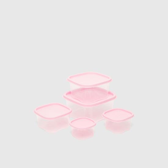 طقم حاويات تخزين شفاف - 5 قطع