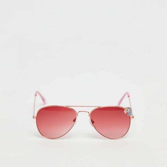 نظارة شمسية بإطار كامل بزخارف يونيكورن مع وسادات أنف