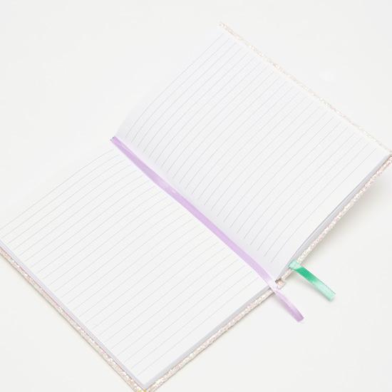 دفتر ملاحظات بطباعة يونيكورن مع إشارة مرجعية