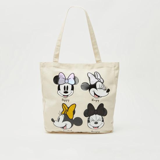 حقيبة تسوق بطبعة ميني ماوس بمقابض قصيرة