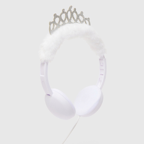 Plush Headphones with Crown Accent