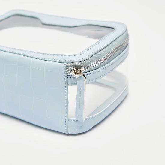 حقيبة صغيرة بارزة الملمس بسحاب إغلاق