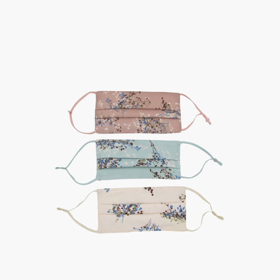 Pack of 3 - Floral Print Triple Layer Reusable Face Mask