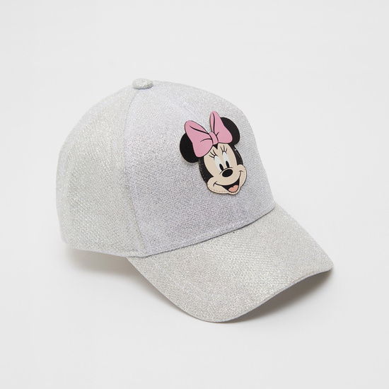 Mickey Mouse Applique Shimmery Textured Cap