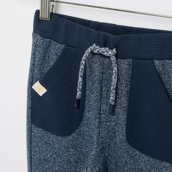 Textured Pants with Pockets and Drawstring Closure