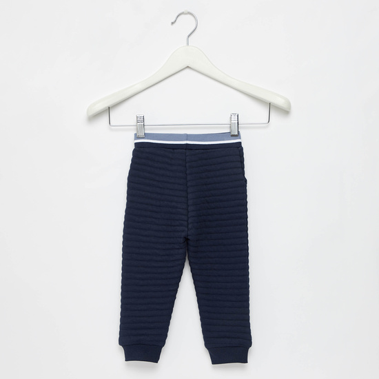 Quilted Full Length Joggers with Drawstring Closure