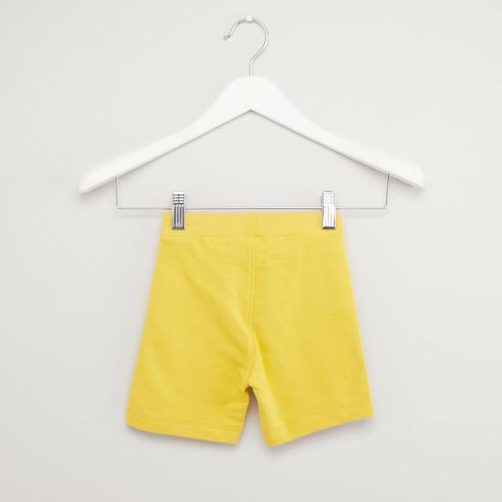 Stripe Detail Shorts with Drawstring Waistband