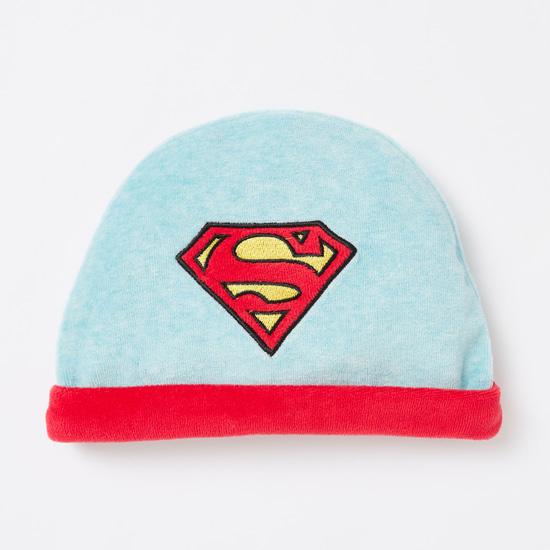 بدلة نوم بطبعات سوبرمان مع قبعة