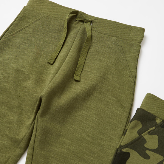 Set of 2 - Assorted Full Length Joggers with Drawstring Closure