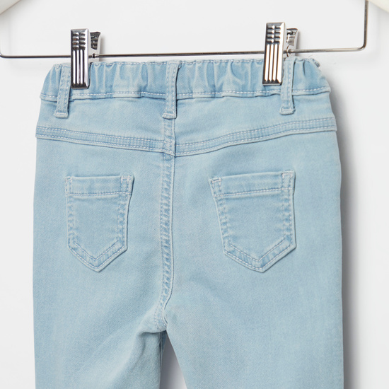 Embroidered Detail Jeans with Pocket Detail and Belt Loops