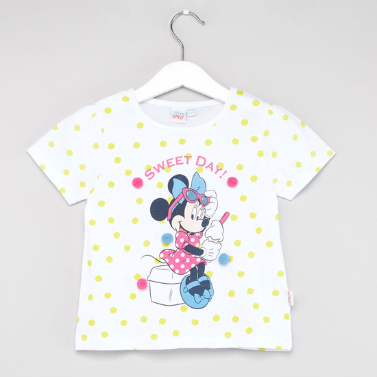 Disney Minnie Mouse Print T-shirt with Shorts