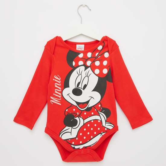 Set of 2 - Printed GOTS Organic Cotton Bodysuit with Long Sleeves