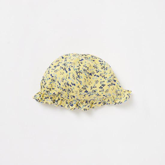 طقم أفرول بطبعات زهرية وقبعة