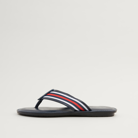 Striped Slip-On Sandals