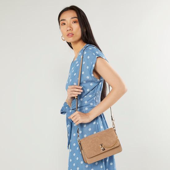 Plain Crossbody Bag with Detachable Strap
