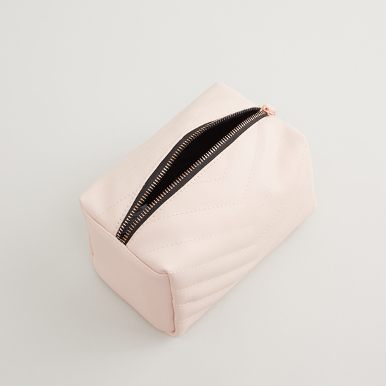 Textured Pouch with Zipper