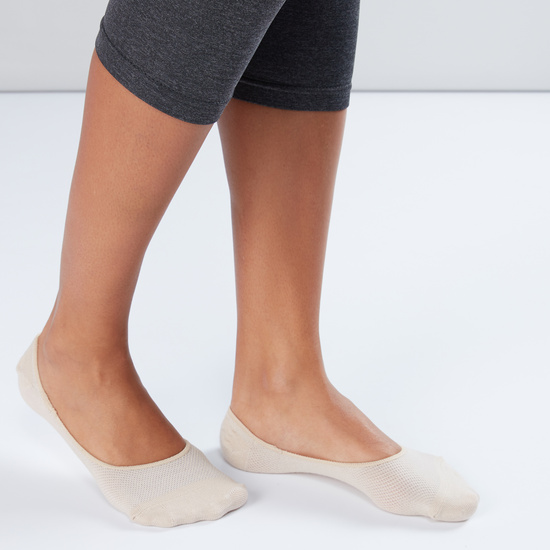 Textured No Show Socks - Set of 3