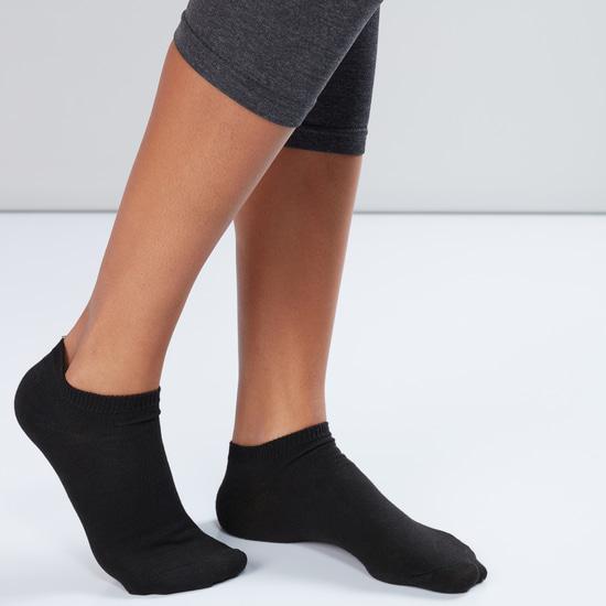 Textured Ankle Length Socks - Set of 10
