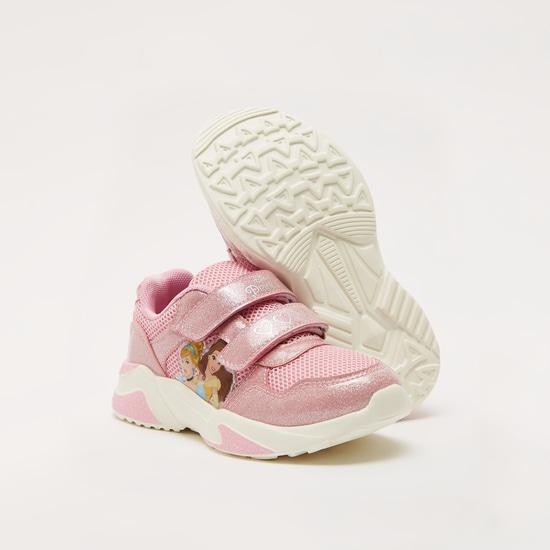 حذاء بارز الملمس بشريط إغلاق لاصق وطبعات برنسيس من ديزني