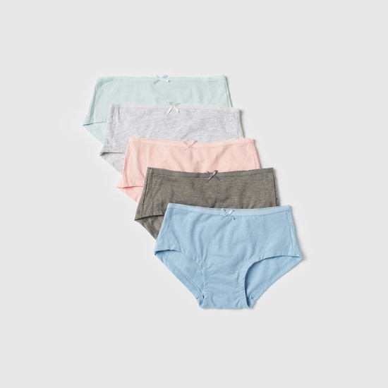 Set of 5 - Solid Briefs