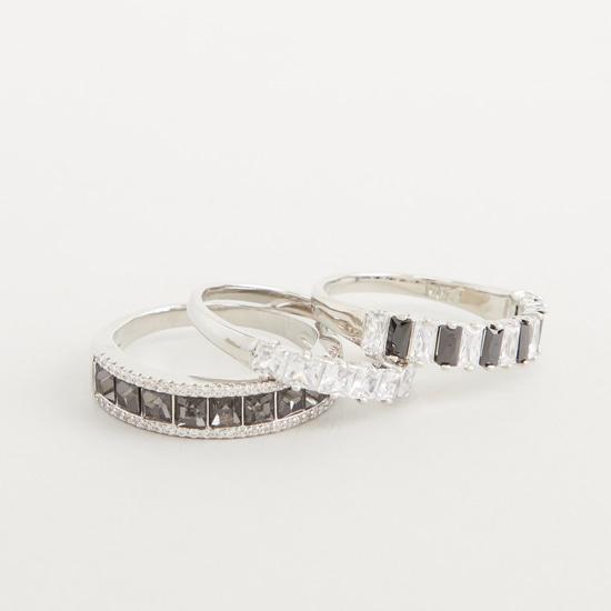 Set of 3 - Studded Finger Rings