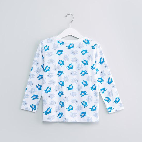 Printed Long Sleeves T-Shirt with Jog Pants - Set of 2