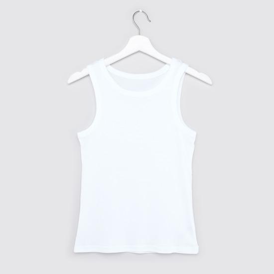 Set of 2 - Sleeveless Vest with Scoop Neck