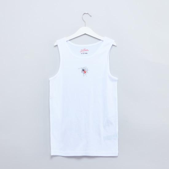 Set of 2 - Spider-Man Printed Sleeveless Vest with Round Neck