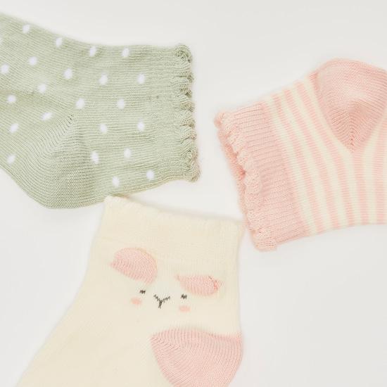 جوارب متعددة التصاميم- طقم من 3 أزواج