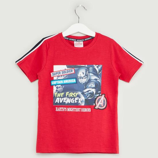Avengers Print Short Sleeves T-shirt and Shorts