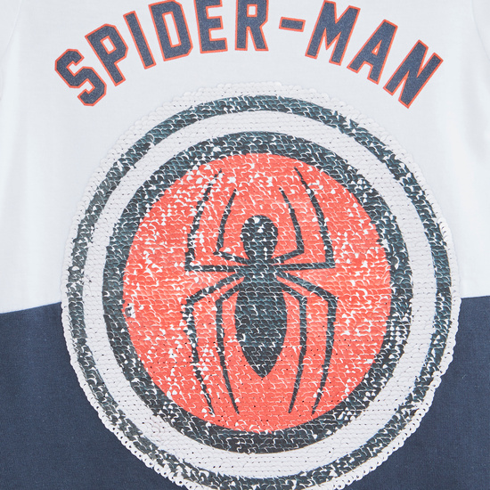 Spider-Man Print T-shirt with Shorts