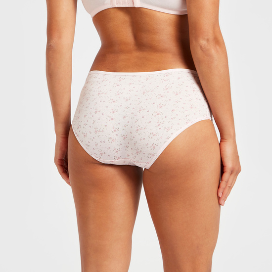 Pack of 5 - Assorted Midi Briefs with Elasticised Waistband