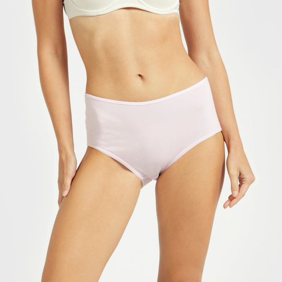 Set of 5 - Printed Midi Briefs with Elasticised Waistband