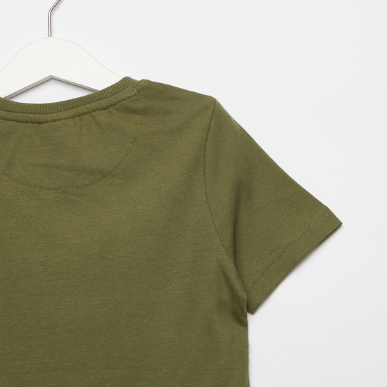 The Incredible Hulk Print T-shirt with Round Neck and Short Sleeves