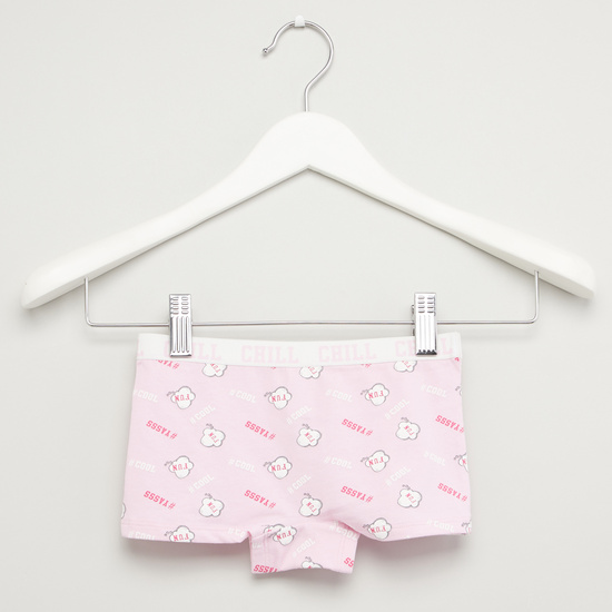Set of 2 - Assorted Briefs with Wide Elasticised Waistband