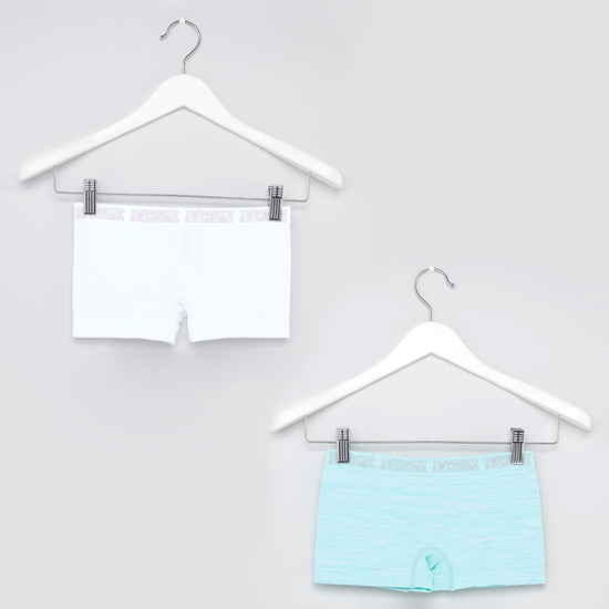 Set of 2 - Solid Briefs with Wide Elasticised Waistband