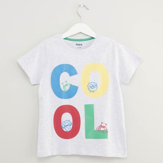Cool Print Short Sleeves T-shirt and Pyjama Set