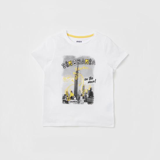Graphic Print Short Sleeves T-shirt and Pyjama Set