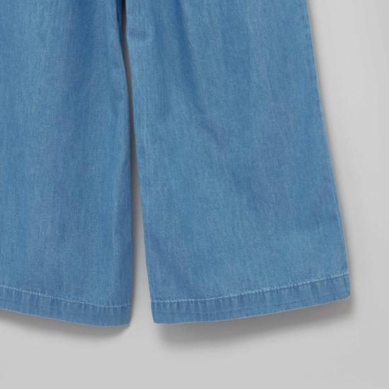 Plain Pants with Pocket Detail and Belt