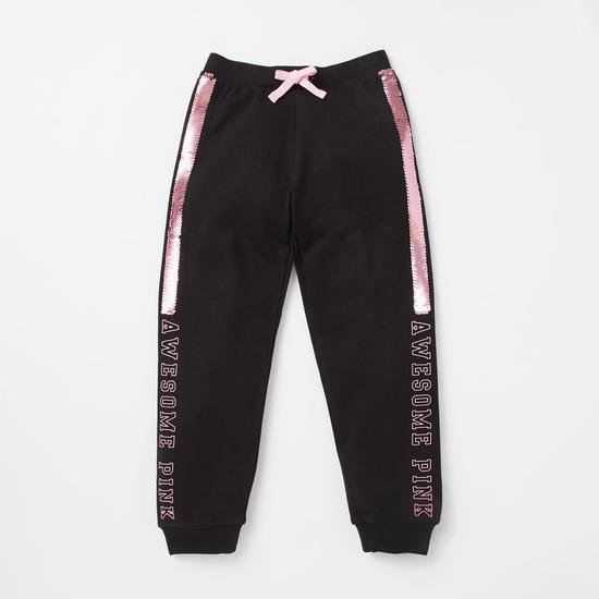Embellished Pink Panther Sweatshirt and Full Length Jog Pants Set