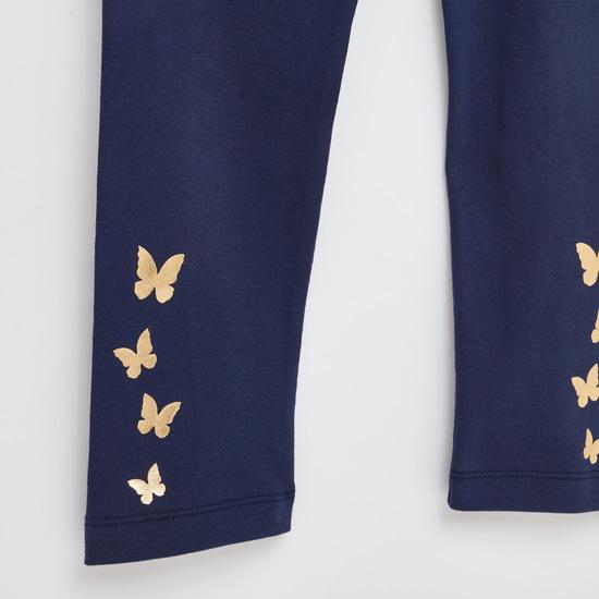 Printed Round Neck Tunic and Legging Set