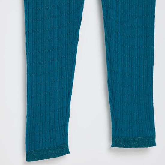 Full Length Knit Leggings with Elasticated Waistband