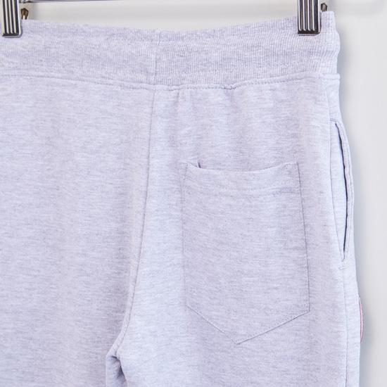 Textured Jog Pants with Spider-Man Badge Applique