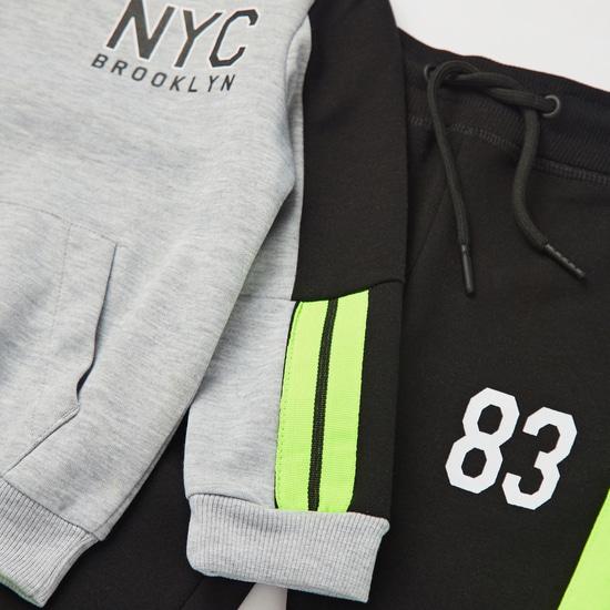 Printed Long Sleeves Sweatshirt and Jog Pant Set