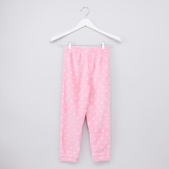 Cozy Collection Minnie Mouse Print T-shirt with Full Length Jog Pants
