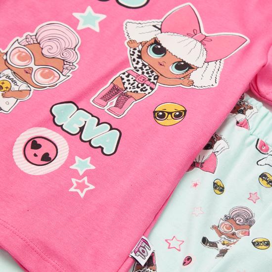 L.O.L. Surprise! Print Short Sleeves T-shirt and Pyjama Set