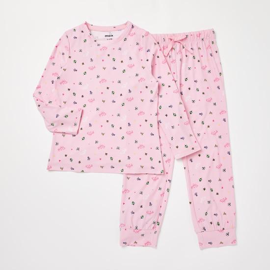 Cozy Collection Princess Print T-shirt and Full Length Pyjama Set
