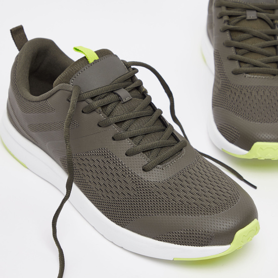 Men's Solid Lace-Up Running Shoes