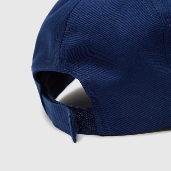 Textured Baseball Cap with Hook and Loop Strap Closure