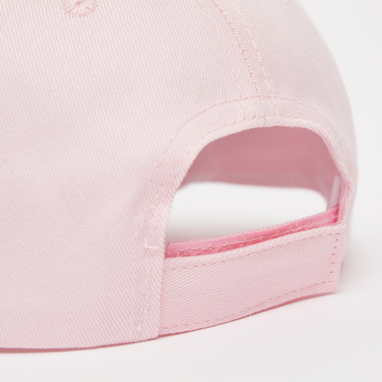 Heart Embellished Cap with Hook and Loop Closure